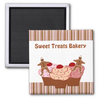 El dulce trata negocio de la panadería imán para frigorifico