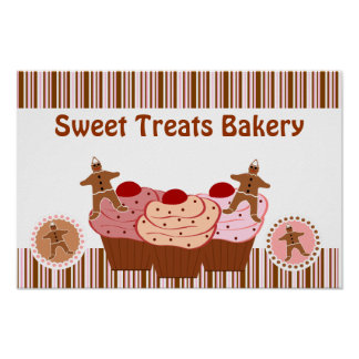El dulce trata negocio de la panadería póster