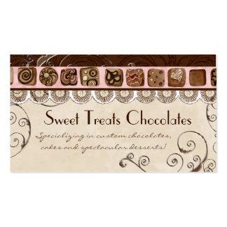 El dulce trata tarjetas de visita de la panadería