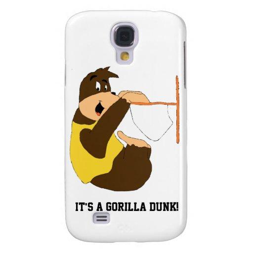 El Dunking del golpe del gorila del dibujo animado