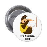 El Dunking del golpe del gorila del dibujo animado Pin