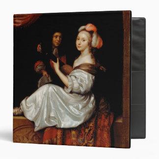 """El dúo, 1665 (aceite en lona) carpeta 1 1/2"""""""