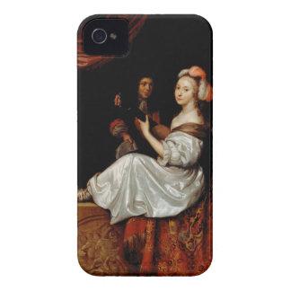 El dúo, 1665 (aceite en lona) iPhone 4 Case-Mate carcasa