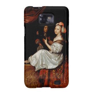 El dúo, 1665 (aceite en lona) galaxy s2 fundas