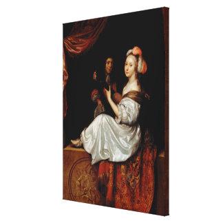 El dúo, 1665 (aceite en lona) impresion de lienzo