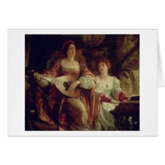 El dúo (aceite en lona) tarjeta de felicitación