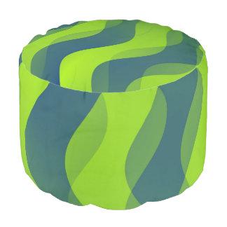 El dúo agita azulverde + sus ideas puf redondo