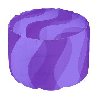 El dúo agita la púrpura violeta + sus ideas puf redondo