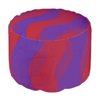 El dúo agita la violeta roja + sus ideas puf redondo