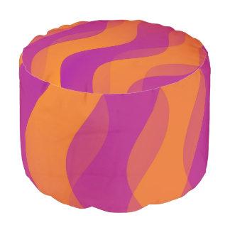El dúo agita rosa del naranja + sus ideas puf redondo