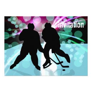 El dúo del hockey hace frente apagado comunicado personalizado