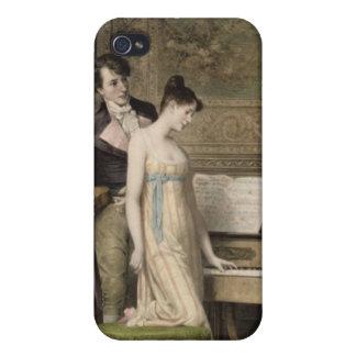 El dúo (mezzotint) iPhone 4 cárcasas