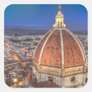 El Duomo en Florencia, Italia Pegatina Cuadrada