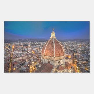 El Duomo en Florencia, Italia Pegatina Rectangular