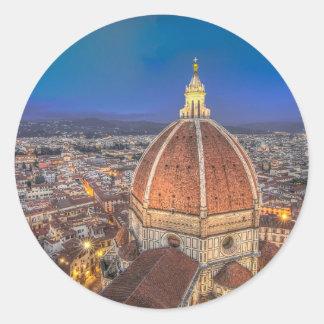 El Duomo en Florencia, Italia Pegatina Redonda