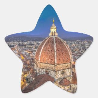El Duomo en Florencia, Italia Pegatina En Forma De Estrella