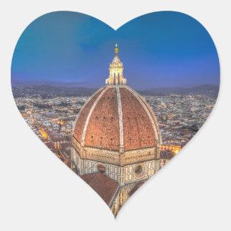 El Duomo en Florencia, Italia Pegatina En Forma De Corazón