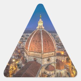El Duomo en Florencia, Italia Pegatina Triangular