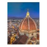 El Duomo en Florencia, Italia Postal