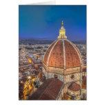 El Duomo en Florencia, Italia Tarjeta De Felicitación