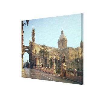El Duomo founded by Walter Archbishop of Palermo Gallery Wrap Canvas
