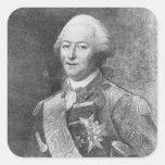 El duque de Aiguillon Calcomania Cuadrada Personalizada