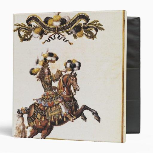 """El duque de Enghien como el rey de los indios Carpeta 1 1/2"""""""