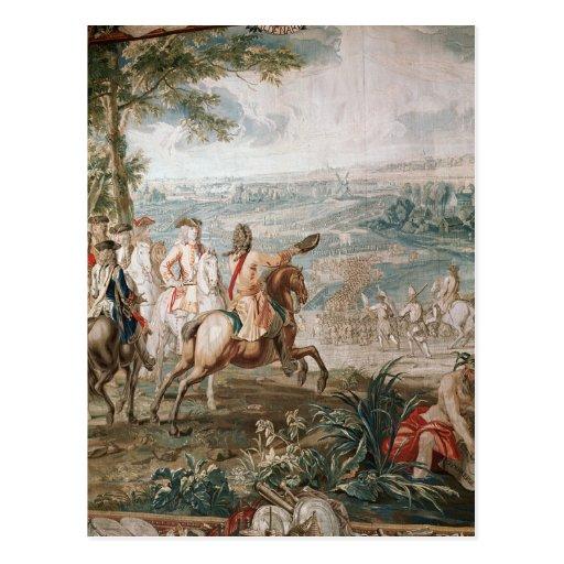 El duque de Marlborough examina a sus tropas Postales