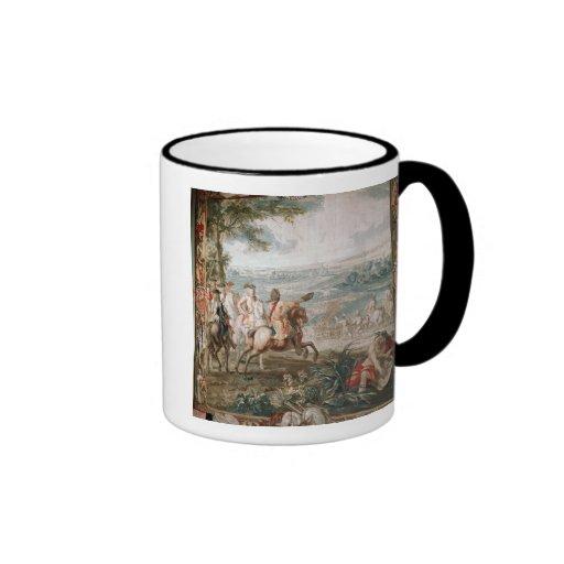 El duque de Marlborough examina a sus tropas Tazas De Café