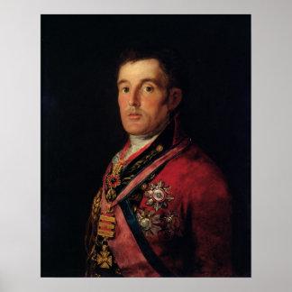 El duque de Wellington 1812-14 Póster