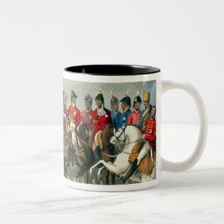 El duque de Wellington y el su cruzar del personal Taza Dos Tonos