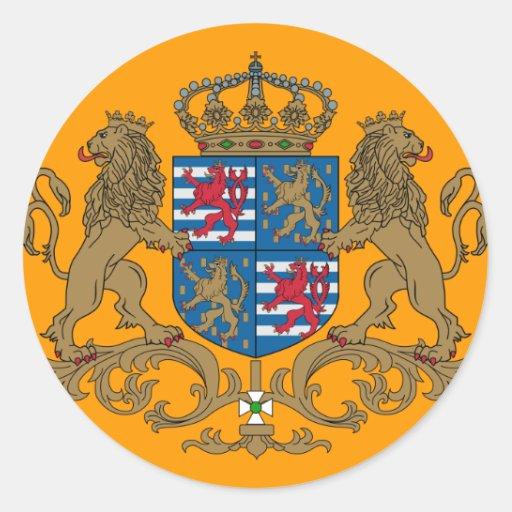 El duque magnífico de Luxemburgo, Luxemburgo Pegatina Redonda