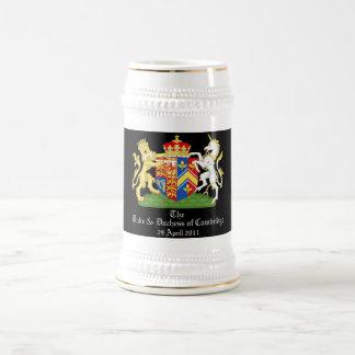 El duque y la duquesa de Cambridge Jarra De Cerveza