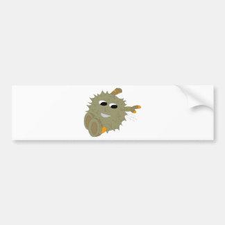 El Durian es amor Pegatina De Parachoque
