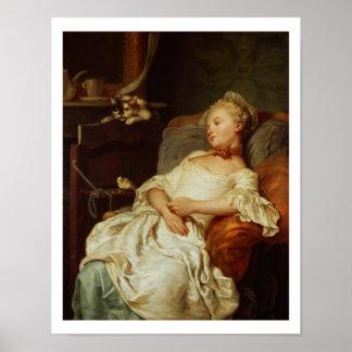 El durmiente, 1759 (aceite en lona) póster