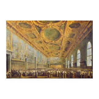 El dux de Venecia que agradece al consejo Impresiones En Lona