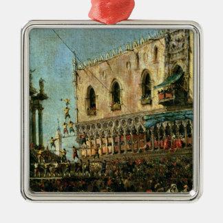 El dux en Shrove el festival de martes en el Pia Adorno De Navidad
