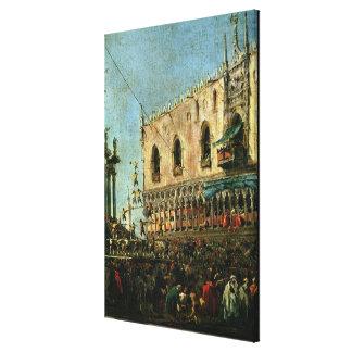 El dux en Shrove el festival de martes en el Pia Impresión En Lienzo Estirada
