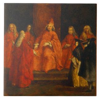 El dux Grimani en su trono Azulejos Cerámicos