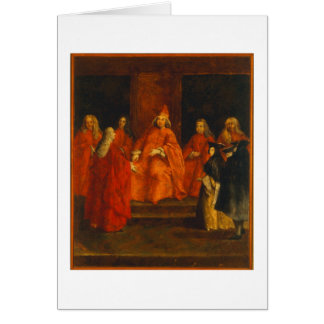 El dux Grimani en su trono Felicitación