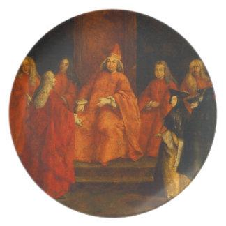 El dux Grimani en su trono Plato De Comida
