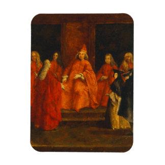 El dux Grimani en su trono Imanes De Vinilo