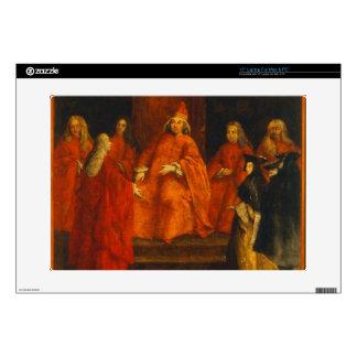 El dux Grimani en su trono Calcomanía Para 38,1cm Portátil