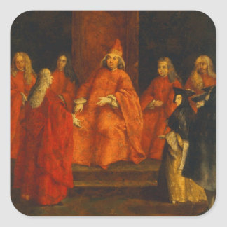El dux Grimani en su trono Calcomanías Cuadradases