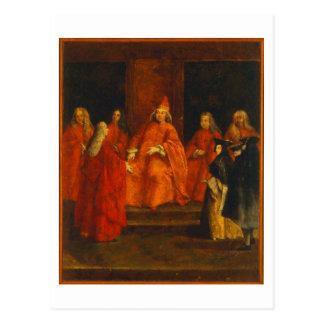 El dux Grimani en su trono Tarjetas Postales