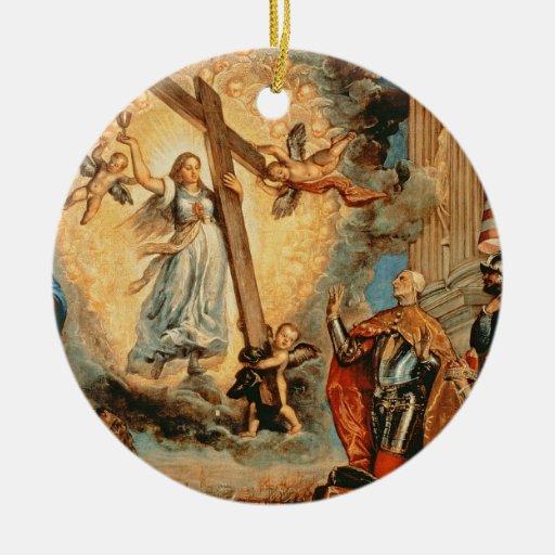 El dux Grimani que se arrodilla antes de la fe Ornamento Para Arbol De Navidad
