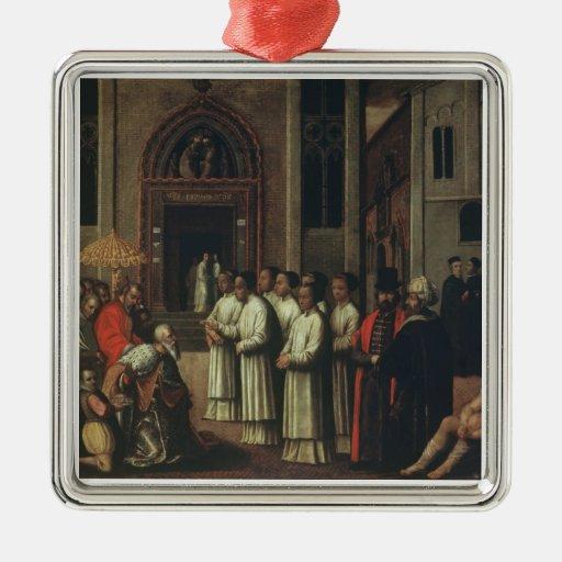 El dux Ziani encuentra a papa Alejandro III (1105- Ornamentos De Navidad
