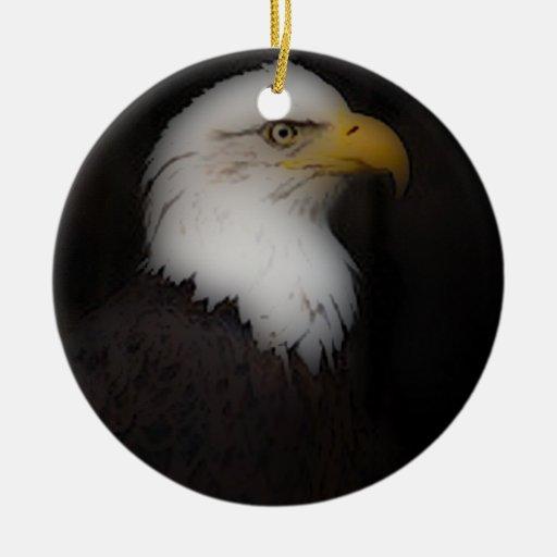 'El Eagle calvo prestigioso Adorno Redondo De Cerámica