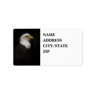 'El Eagle calvo prestigioso Etiquetas De Dirección