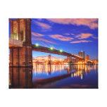 El East River, puente de Brooklyn, Manhattan Impresión En Lona